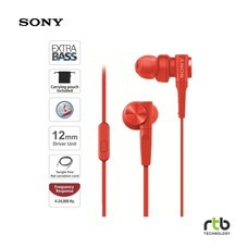 Sony รุ่น MDR-XB55AP Extra Bass In-Ear Headphones  - Red
