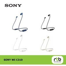 Sony หูฟังไร้สาย รุ่น WI-C310 Bluetooth Wireless In-Ear Headphones