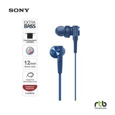 Sony รุ่น MDR-XB55AP Extra Bass In-Ear Headphones  - Blue