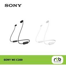 Sony หูฟังไร้สาย รุ่น WI-C200 Wireless Bluetooth Headphones