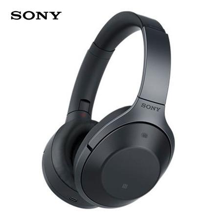 Sony หูฟังแบบไร้สาย Premium Noise Cancelling Bluetooth รุ่น MDR-1000X - Black