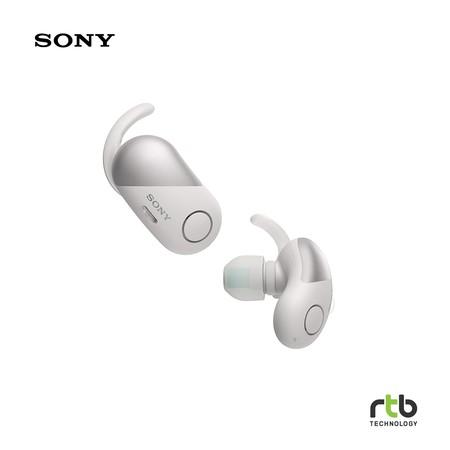 Sony รุ่น WF-SP700N หูฟังบลูทูธสำหรับออกกำลังกาย Truly Wireless - White