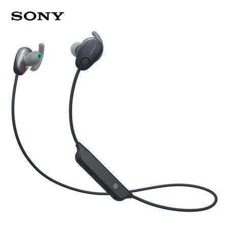 หูฟังไร้สาย Sony WI-SP600N Wireless Sports Headphones with Noise Cancelling and IPX4 Splash Proof - Black