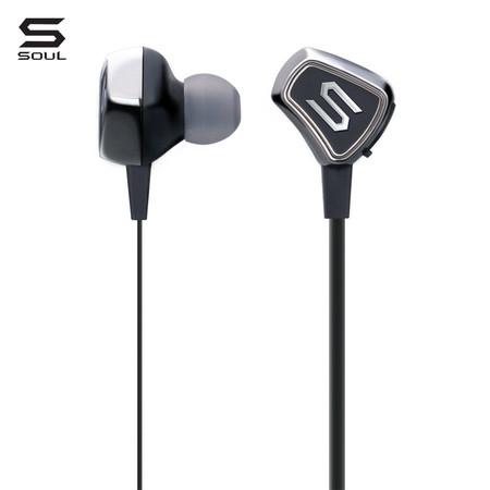 SOUL หูฟังไร้สาย IMPACT WIRELESS, Wireless Active In-Ear Headphones with Bluetooth : Chrome (Black)