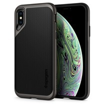 SPIGEN Case Apple iPhone XS Case Neo Hybrid : Gunmetal