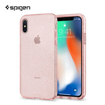 เคส iPhone X SPIGEN Case Liquid Crystal Glitter - Rose Quartz