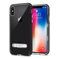 เคส iPhone X SPIGEN Case Crystal Hybrid - Black