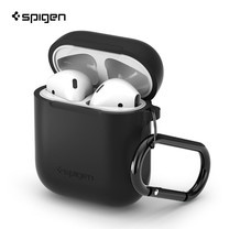 SPIGEN เคส Apple AirPods Silicone Case : Black (Deep Black)