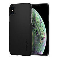 SPIGEN เคส Apple iPhone XS Case Thin Fit : Black