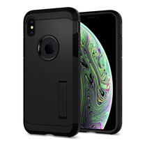 SPIGEN เตส Apple iPhone XS Case Tough Armor : Black