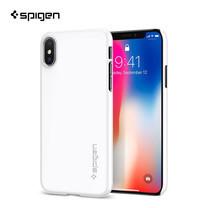 SPIGEN เคส Apple iPhone X Case Thin Fit : Jet White