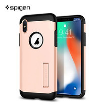 เคส iPhone X SPIGEN Tough Armor - Blush Gold
