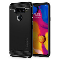 SPIGEN เคส LG V40 ThinQ Case Rugged Armor : Matte Black
