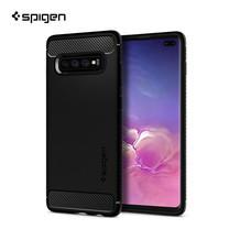 SPIGEN เคส Samsung Galaxy S10+ Case Rugged Armor : Black
