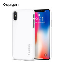 SPIGEN เคส Apple iPhone X Case Thin Fit :  Jet White