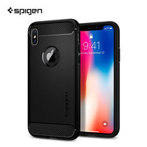 เคส iPhone X SPIGEN Rugged Armor - Matte Black