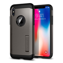 เคส iPhone X SPIGEN Slim Armor - Gunmetal