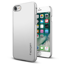SPIGEN Case Apple iPhone 7 Case Thin Fit - Satin Silver