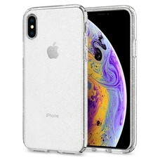 SPIGEN Case Apple iPhone XS Case Liquid Crystal Glitter : Crystal Quartz