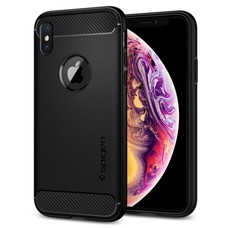 SPIGEN Case Apple iPhone XS Rugged Armor : Matte Black