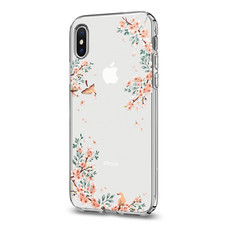 เคส iPhone X SPIGEN Case Liquid Crystal Blossom - Nature