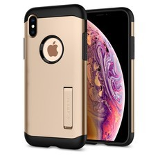 SPIGEN Case Apple iPhone XS Case Slim Armor : Champagne Gold