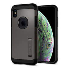 SPIGEN เคส Apple iPhone XS Case Tough Armor : Gunmetal