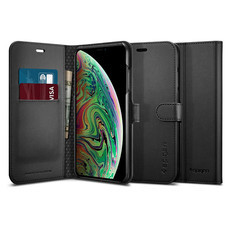 SPIGEN เคส Apple iPhone XS Max Case Wallet S : Black