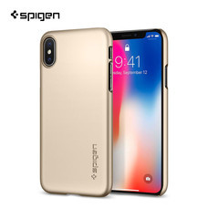 เคส Apple iPhone X SPIGEN Case Thin Fit :  Champagne Gold