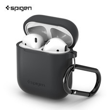 SPIGEN เคส Apple AirPods Silicone Case : Charcoal (Light Black)