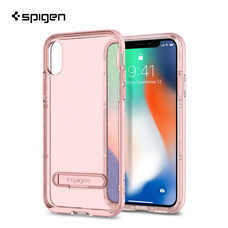 เคส iPhone X SPIGEN Crystal Hybrid Glitter - Rose Quartz