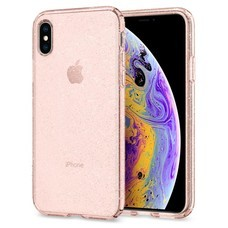 SPIGEN Case Apple iPhone XS Case Liquid Crystal Glitter : Rose Quartz
