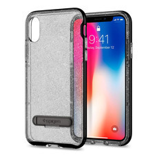 เคส iPhone X SPIGEN Crystal Hybrid Glitter - Space Quartz
