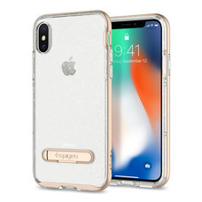 เคส iPhone X SPIGEN Crystal Hybrid Glitter - Gold Quartz