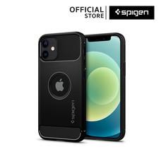 Spigen เคส iPhone 12 Mini RUGGED ARMOR (เคสไอโฟน 12 มินิ, เคสซิลิโคน, เคสบาง, เคสกันกระแทก) : Matte Black