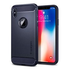 เคส iPhone X SPIGEN Rugged Armor - Midnight Blue