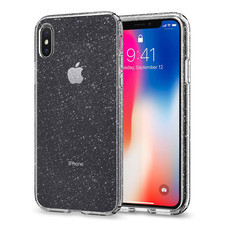 เคส iPhone X SPIGEN Liquid Crystal Glitter - Crystal Quartz