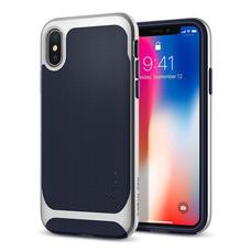 เคส iPhone X SPIGEN Neo Hybrid - Satin Silver