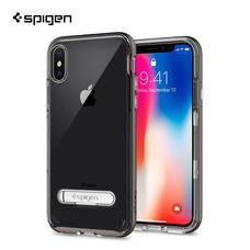 เคส iPhone X SPIGEN Case Crystal Hybrid - Gunmetal