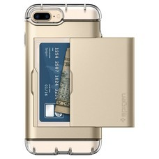 SPIGEN Case Apple iPhone 7 Plus Case Crystal Wallet - Champagne Gold