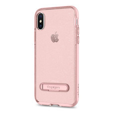 เคส iPhone X SPIGEN Crystal Hybrid Glitter - Rose Quartz