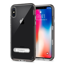 เคส iPhone X SPIGEN Case Crystal Hybrid - Gunmetal
