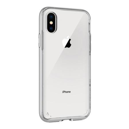 เคส iPhone X SPIGEN Case Neo Hybrid Crystal - Satin Silver