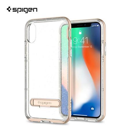 เคส iPhone X SPIGEN Crystal Hybrid Glitter - Gold Quartz
