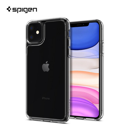 Spigen เคส iPhone 11 [QUARTZ HYBRID] เคสใส, เคสกันกระแทก