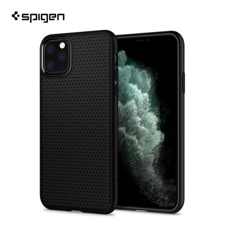 Spigen เคส iPhone 11 Pro Max [LIQUID AIR] เคสซิลิโคน, เคสบาง, เคสกันกระแทก - Matte Black