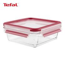 TEFAL กล่องถนอมอาหาร MasterSeal GLASS ความจุ 0.9 ลิตร - สีแดง (K3010322)