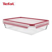 TEFAL กล่องถนอมอาหาร MasterSeal GLASS ความจุ 0.7 ลิตร - สีแดง (K3010822)