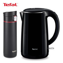 Tefal Wonderful Tea Time Set (Tefal กาต้มน้ำไฟฟ้า KO2608 (1.7L) + Tefal แก้วเก็บอุณหภูมิ We Go ขนาด 0.43L - Black)