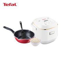 Tefal Wonderful Meal Set (Tefal หม้อหุงข้าวไฟฟ้าดิจิตอล รุ่น RK6011TH (0.7L) + Tefal กระทะก้นลึกขอบหยัก 24 ซม. พร้อมตะหลิว)
